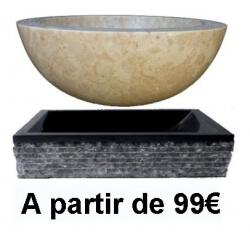 Vasque lavabo et evier en pierre naturelle 79 for Vasques import
