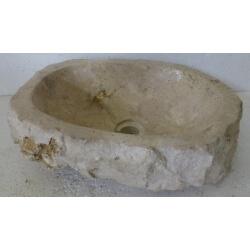 Vasque à poser en Marbre E8-46x35cm