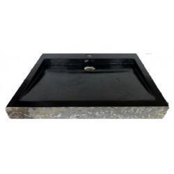 lavabo de màrmol color negro 70x45cm