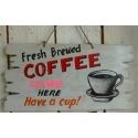 plaque décorative en bois coffee long