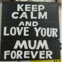 plaque décorative en bois mother 1