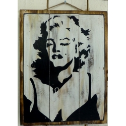 plaque décorative en bois marilyn
