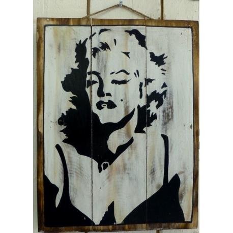 panneau décoratif en bois marilyn