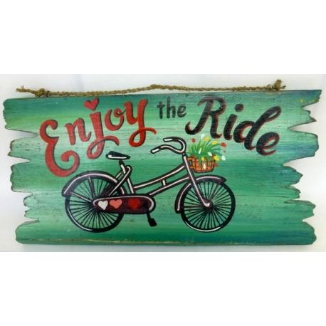 panneau décoratif en bois bycicle