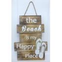 panneau décoratif en bois happy place