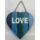 panneau décoratif en bois love