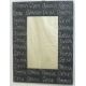 Espejo rectangular LOVE negro