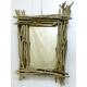 Espejo de madera flotante