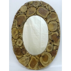 Miroir en bois Grand Nord oval