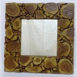 Miroir en bois Grand Nord carré