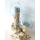 Double vase ou aquarium gm H10