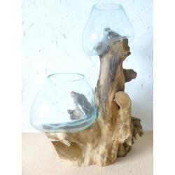 Double vase ou aquarium DBM66