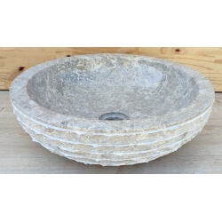 lavabo de màrmol color gris 30x30cmH.12cm mr12g