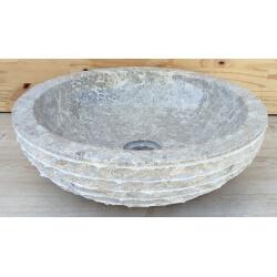 Vasque en marbre gris 30x30cmH.12cm mr12g