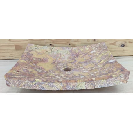 Vasque en marbre rectangle 50x40cm