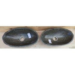 double vasque à poser en Pierre RA100-41x23cm