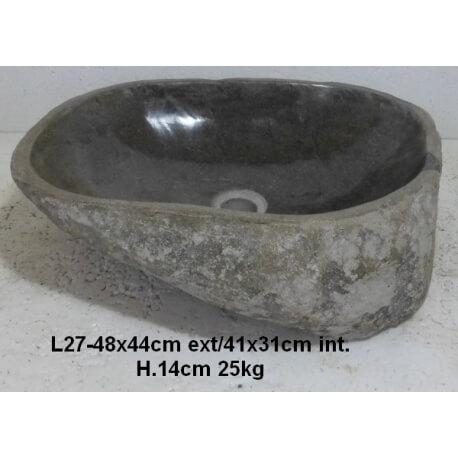 Vasque à poser en Pierre L27-48x44cm