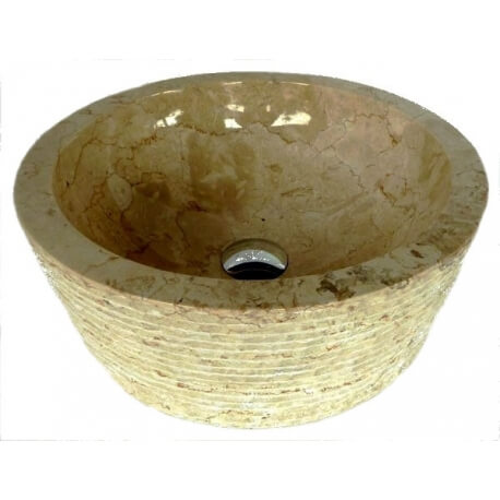 Vasque en marbre beige 40x40cm H.15cm mr19