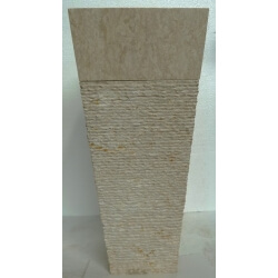 Vasque en marbre beige sur pied n°1