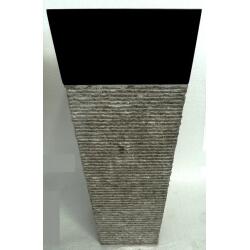 Vasque en marbre noire sur pied n°10