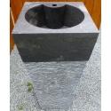 Vasque en marbre grise sur pied n°12