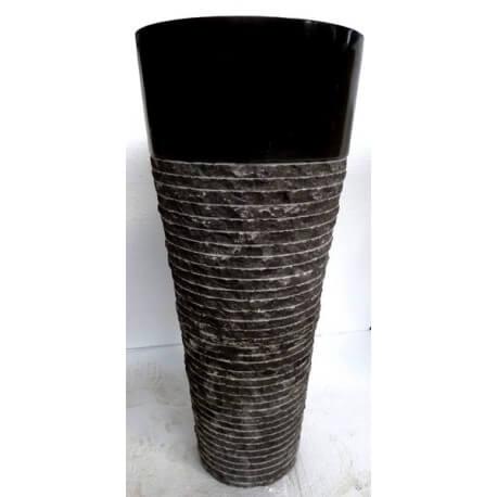 Vasque en marbre noire sur pied n°4