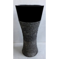 Vasque en marbre noire sur pied n°8