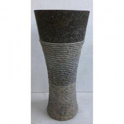 Vasque en marbre gris sur pied n°9