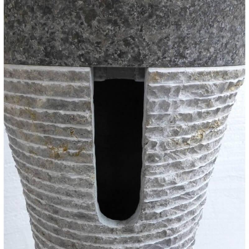 Vasque en marbre sur pied gris n 9 exotica import for Vasques import