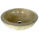 Vasque en marbre crème 30x30cm H.12cm mr11