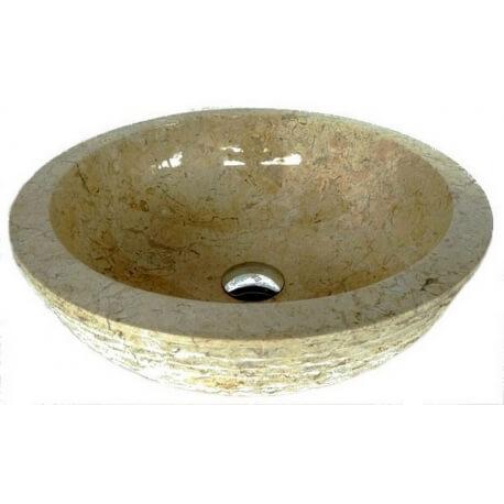 Vasque en marbre crème 40x40cm H.15cm mr15