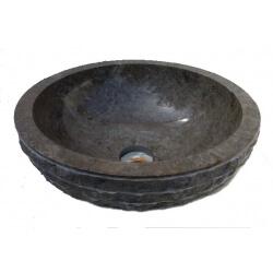 Vasque en marbre gris 40x40cm H.15cm mr16g