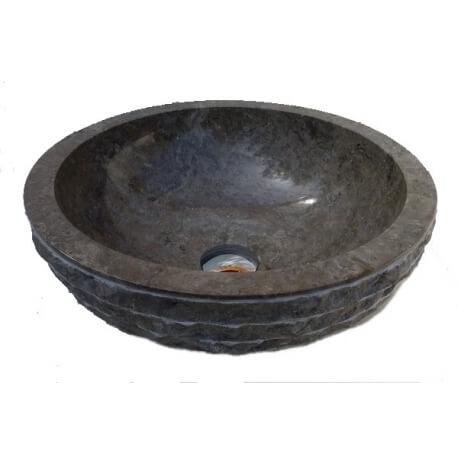 Vasque en marbre gris 30x30cm mr12g