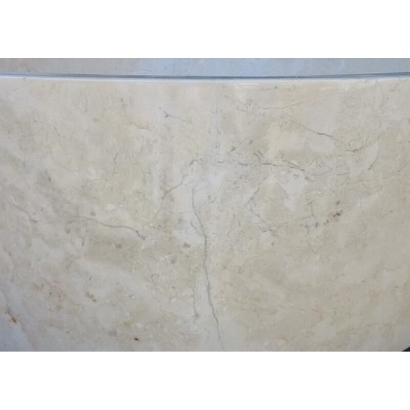 Vasque en marbre polie ronde beige mr19p exotica import for Vasques import