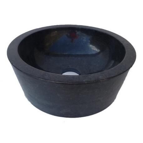 Vasque en marbre polie noire 40x40cm H.15cm mr20p