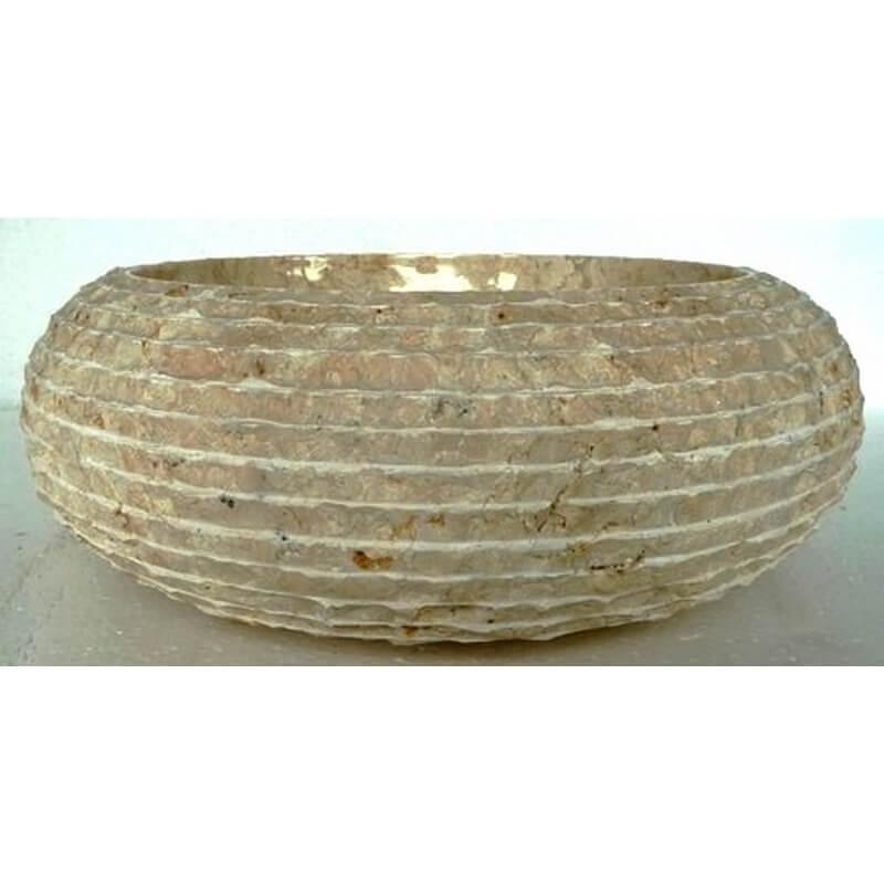 Vasque en marbre cr me mr17 exotica import for Vasques import