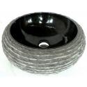 lavabo de màrmol color negro 40x40cm H.15cm mr18