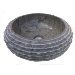 Vasque en marbre gris 40x40cm H.15cm mr18g