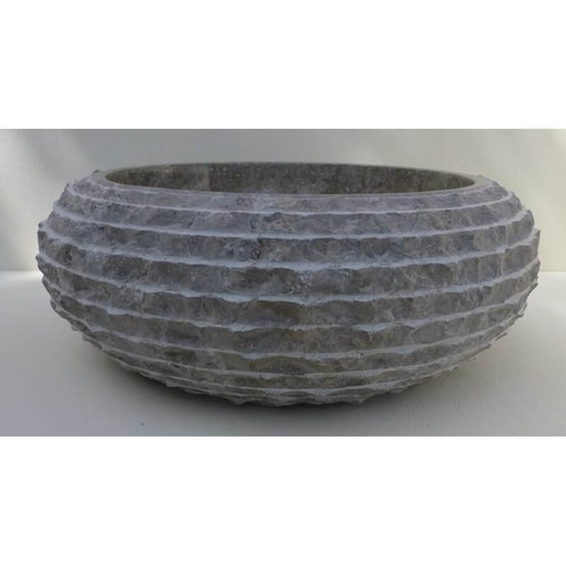 Vasque en marbre gris mr18g exotica import for Vasques import