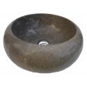 Vasque en marbre polie grise 40x40cm H.15cm mr26