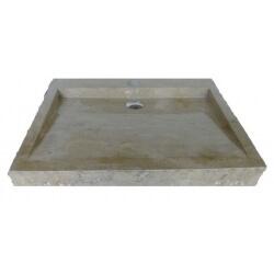 lavabo de màrmol color crema 70x45cm