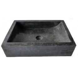 lavabo de màrmol pulida color negro 50x35cm