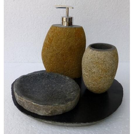 Set de 4 accessoires en pierre