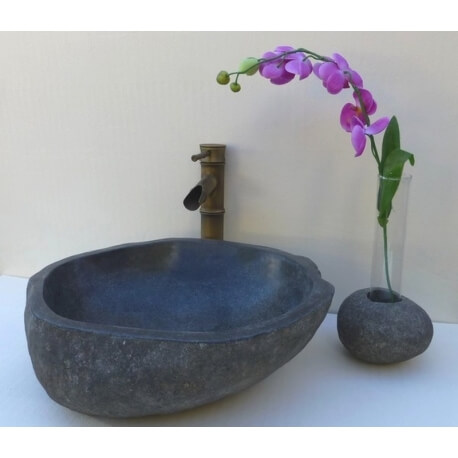 Vase galet soliflore