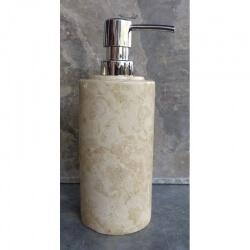 Distributeur savon en marbre crème