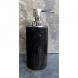 Distributeur savon en marbre gris/noir
