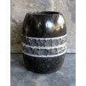Gobelet en marbre noir/gris