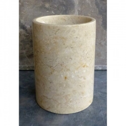 Gobelet en marbre rond crème poli