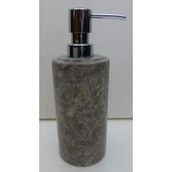 Distributeur savon en marbre gris