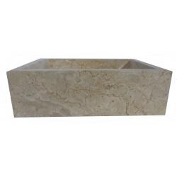 lavabo de màrmol pulida color crema 40x30cm
